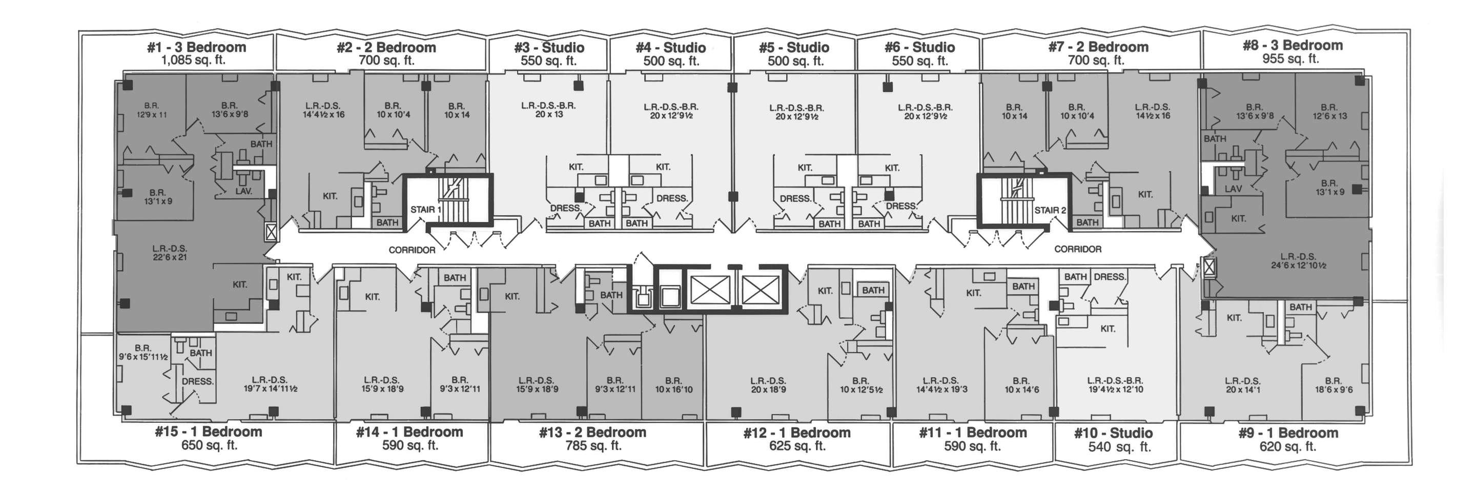 Apartments at huron towers - Planning the studio apartment floor plans ...